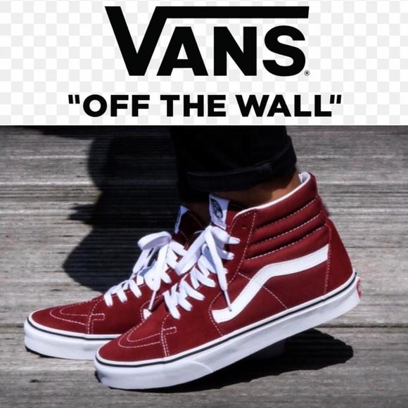 e825f236fbda Vans Sk8 Hi Sneakers Madder Brown Sz 5